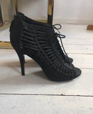 Zara Décolleté spuntata nero Pelle