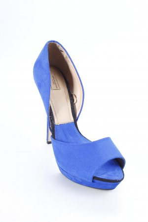 Zara High Heels blau Party-Look