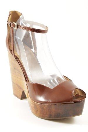 Zara High Heels cognac Elegant