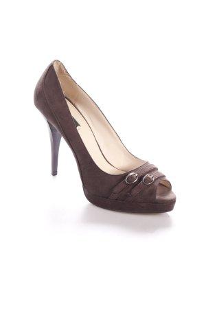 Zara Talons hauts brun foncé style classique