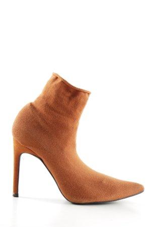 Zara High Heels dunkelorange extravaganter Stil