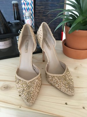 Zara High Heels Gold Beige