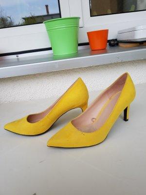 zara high Heels gr. 38 gelb