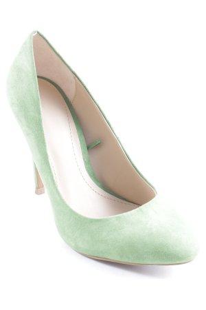 Zara Tacco alto verde prato stile hippie