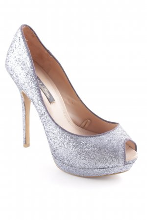 Zara High Heels grau Party-Look