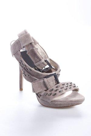 Zara High Heels graubraun mit Nieten