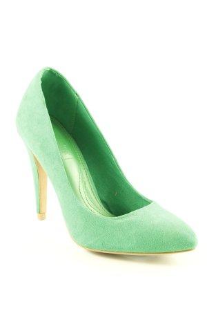 Zara Tacones altos verde estilo extravagante