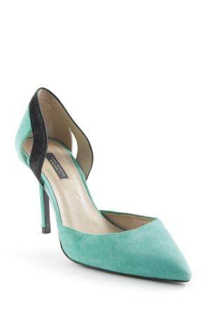 Zara Heels green-black