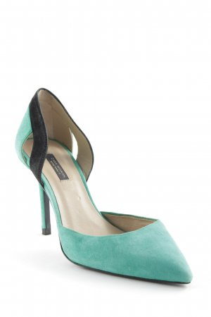 Zara High Heels grün-schwarz