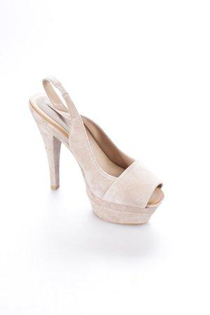 Zara Talons hauts beige clair style classique