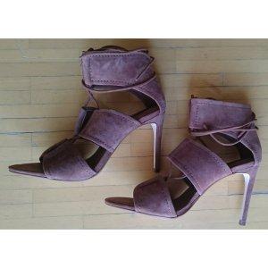 Zara High Heels in braun mit Schnürung