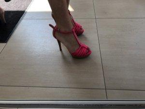 Zara high heels Pink brauntöne gr 37