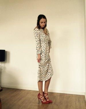 Zara High Heels Pumps Schuhe Rot Riemchen Wildleder Blogger 37