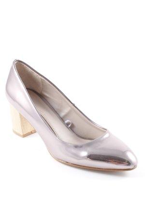 Zara High Heels roségoldfarben-hellbeige Casual-Look