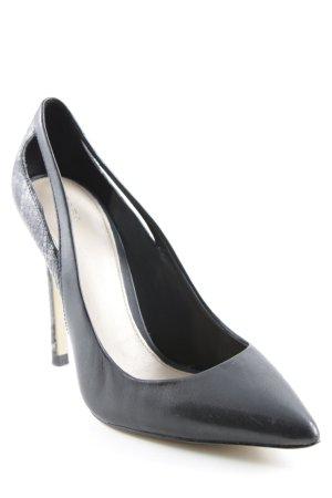 Zara High Heels schwarz-grau Animalmuster Elegant