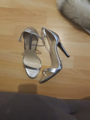 zara high heels silber sandalen