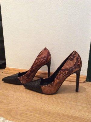 Zara High Heels snake Leder