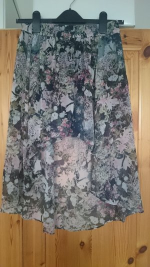 Zara high-low Rock mit Blumenmuster Gr. M w.NEU!!