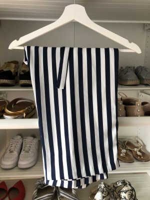 Zara Basic Culottes dark blue-white