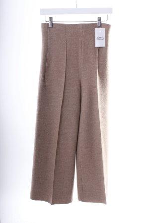 Zara High-Waist Hose beige meliert klassischer Stil