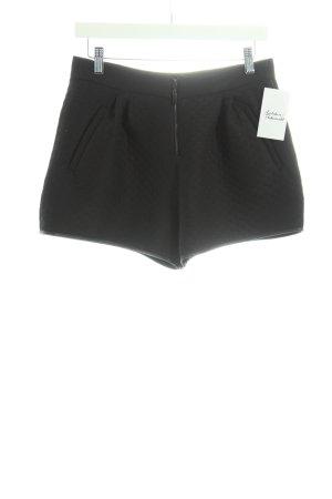 Zara High-Waist Hose schwarz Schimmer-Optik