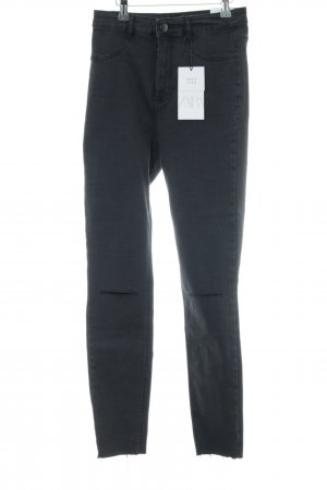 Zara High Waist Jeans schwarz Jeans-Optik
