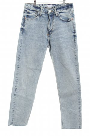 Zara Hoge taille jeans blauw casual uitstraling