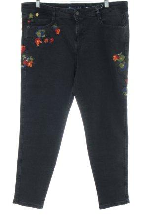 Zara Hoge taille jeans bloemenprint casual uitstraling