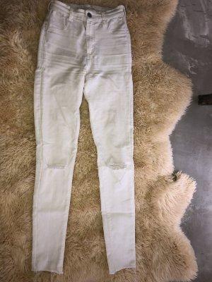 Zara high waist jeans Creme Weiss