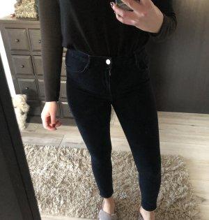 Zara High Waist Jeans dunkelblau