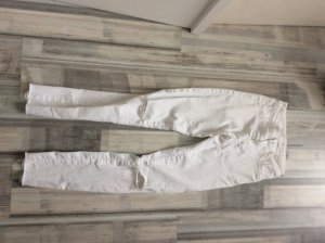 Zara Pantalón de cintura alta blanco