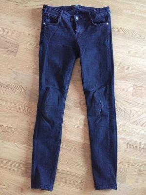 Zara Trafaluc Hoge taille jeans antraciet-zwart