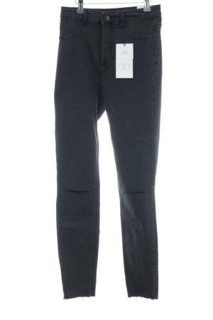Zara Hoge taille jeans zwart Jeans-look