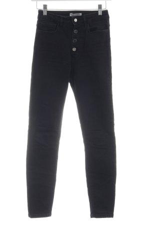 Zara High Waist Jeans schwarz sportlicher Stil