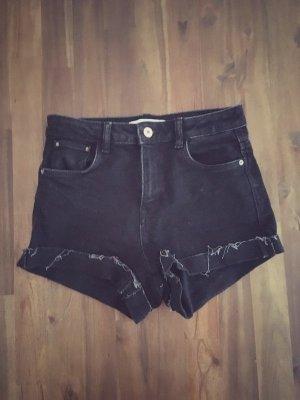 Zara high waist Jeans Shorts schwarz XS 34