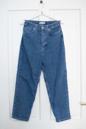 Zara Hoge taille jeans staalblauw Katoen