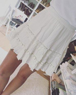 Zara Jupe évasée blanc-blanc cassé
