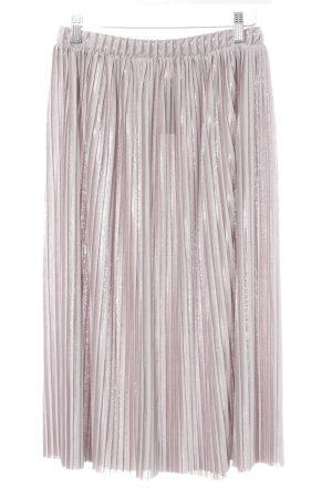 Zara Falda de talle alto color rosa dorado elegante