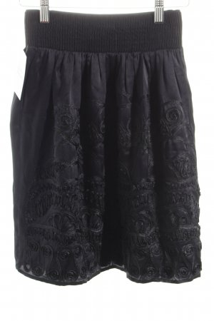 Zara High Waist Rock schwarz Romantik-Look
