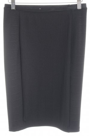 Zara High Waist Rock schwarz Streifenmuster College-Look
