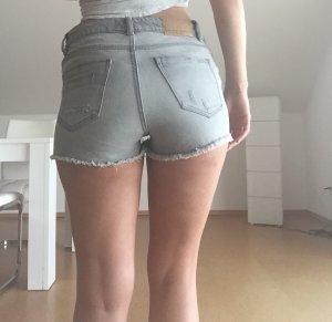 Zara High Waist Shorts Destroyed