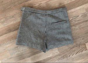 Zara High Waist Shorts Hahnentritt Gr. S