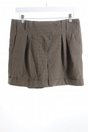 Zara High-Waist-Shorts Hahnentrittmuster Dandy-Look