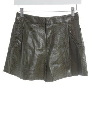 Zara High-Waist-Shorts olivgrün-graubraun Elegant