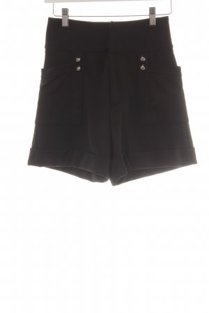 Zara High-Waist-Shorts schwarz Marine-Look