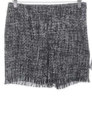 Zara High-Waist-Shorts schwarz-weiß Elegant