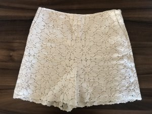 Zara High Waist Shorts Spitze Gr. M