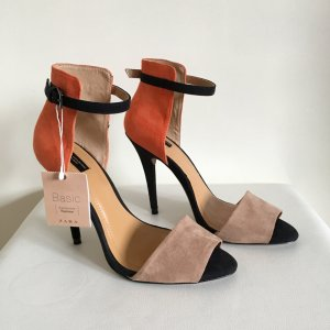 ZARA Highheel Sandalette, nude, beige, orange, Gr 38 *neu*