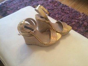 Zara Highheel Wedges Gold
