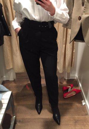 Zara Highwaist Hose mit Bundfalte und Gürtel S